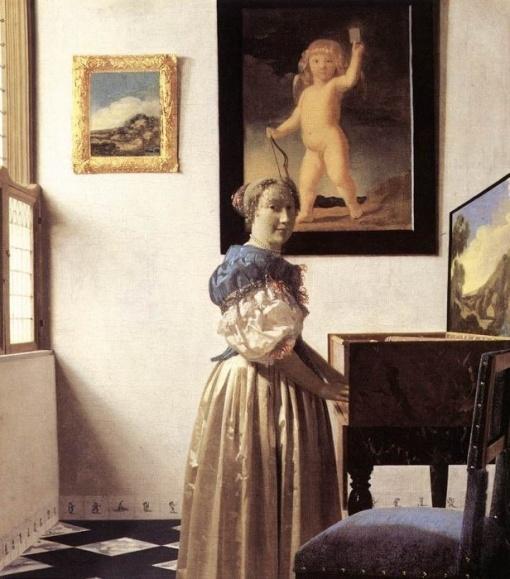 vermeer1woman at spinet