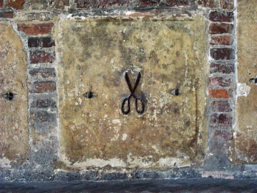 SCISSORS IN CONVENT WALL