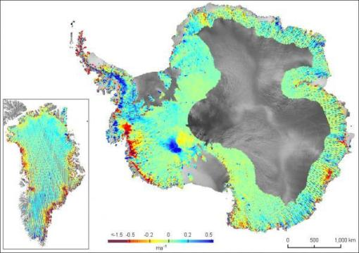 antarctic and greenland melting