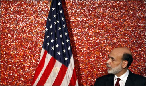 bernanke and flag
