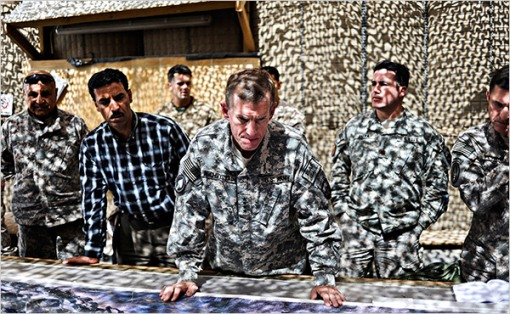 McChrystal in Afghanistan - where's Wally