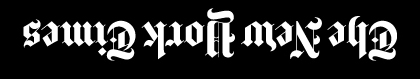 New York Times Logo inverted flipped