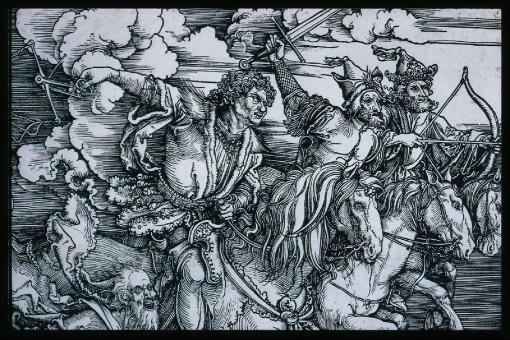 Albrecht-Dürer-The-Four-Horsemen-Apocalypse-probably-1497-98-painting-artwork-print