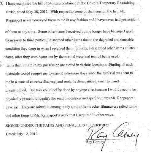 carney affidavit #1x