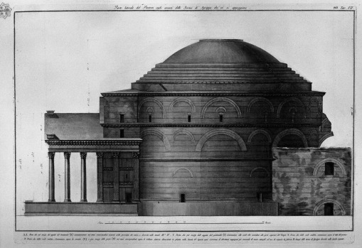 48 lateral-part-of-the-pantheon-remains-of-the-baths-of-agrippa-which-are-supported